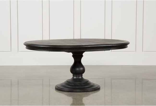 Caira Black Round Dining Table - 360