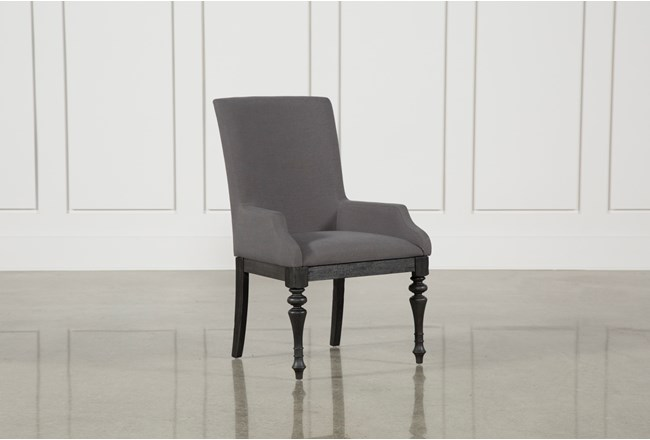 Caira Black Upholstered Arm Chair - 360