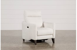 Melina Bisque Power Recliner W/Usb