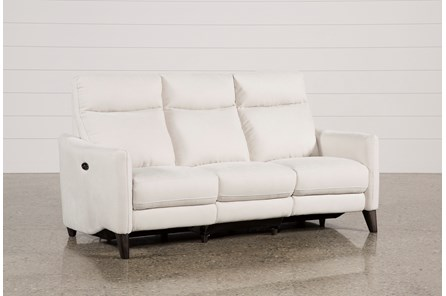 Melina Bisque Power Reclining Sofa W/Usb