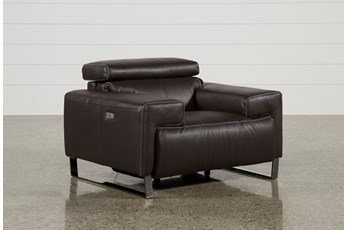 Carlo Leather Power Recliner W/Usb