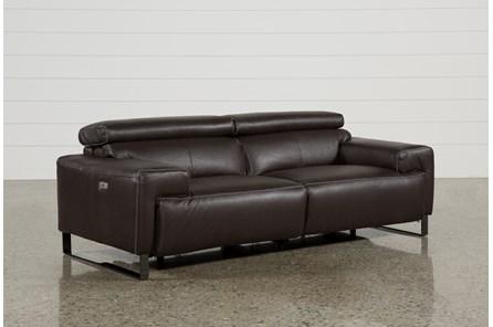 Carlo Leather Power Reclining Sofa W/Usb