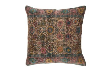 Accent Pillow-Henna Blue/Rose 18X18