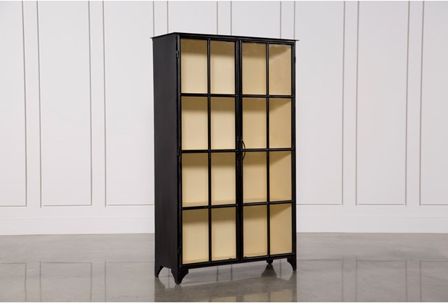 Vintage Tall Curio Cabinet - 360
