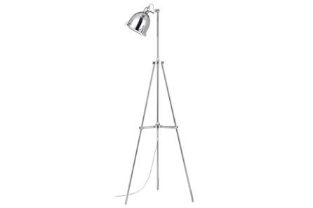 Floor Lamp-Chrome Nautical Spotlight