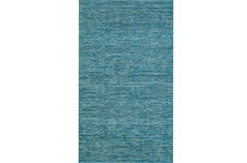 60X90 Rug-Wool Tweed Denim