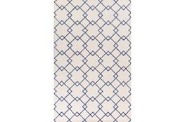 60X90 Rug-Diamond Trellis Blue
