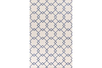 60X90 Rug-Diamond Trellis Blue