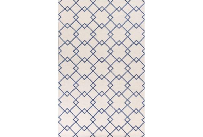 60X90 Rug-Diamond Trellis Blue - 360