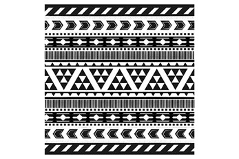 Picture-Black And White Tribal Print II
