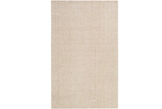60X90 Rug-Berber Tufted Wool Khaki - 360