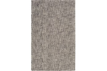 60X90 Rug-Berber Tufted Wool Navy/Charcoal