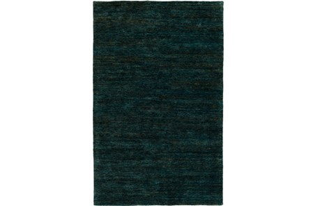 96X120 Rug-Neimon Hand Knotted Jute Dark Green