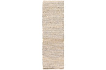 30X96 Rug-Woven Cotton And Seagrass Grey