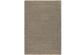 24X36 Rug-Eire Diamond Jute Black