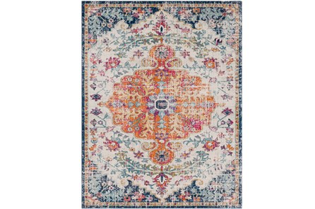24X36 Rug-Ivete Medallion Orange/Multi