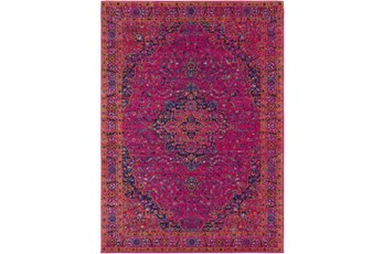 63X87 Rug-Ivete Medallion Fuschia/Orange