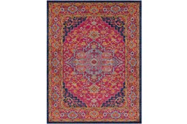 111X150 Rug-Ivete Medallion Garnet/Orange