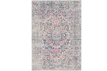 63X87 Rug-Ivete Antique Medallion Garnet/Dark Blue