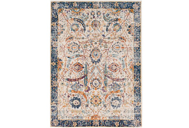 63X87 Rug-Katari Dark Blue/Orange - 360
