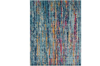 111X150 Rug-Ivete Striations Teal