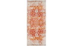 31X87 Rug-Ivete Antique Medallion Orange