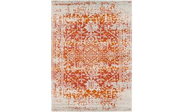 63X87 Rug-Ivete Antique Medallion Orange