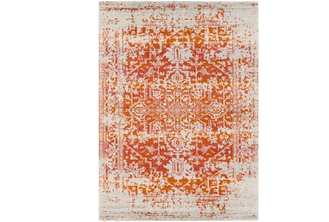 63X87 Rug-Ivete Antique Medallion Orange - 360