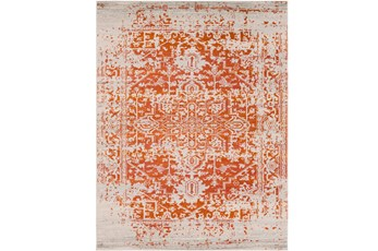 111X150 Rug-Ivete Antique Medallion Orange