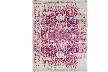111X150 Rug-Ivete Antique Medallion Garnet