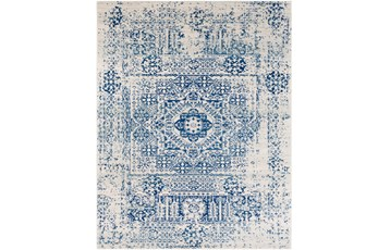 94X123 Rug-Ivete Antique Medallion Dark Blue