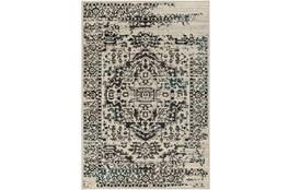 106X153 Rug-Khione Erased Traditional Grey/Teal
