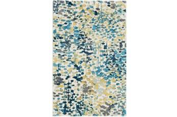 96X120 Rug-Fields Blue/Yellow