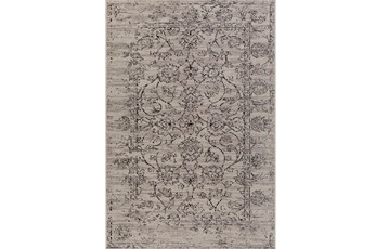 63X87 Rug-Nella Antique Damask Dark Grey
