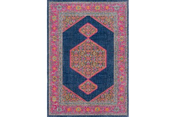 63X87 Rug-Amori Inverse Hexagon Dark Blue/Raspberry