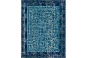 24X36 Rug-Amori Border Teal/Dark Blue