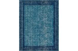 63X87 Rug-Amori Border Teal/Dark Blue