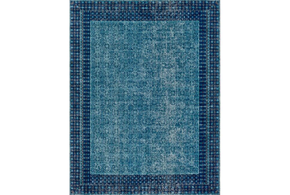 94X123 Rug-Amori Border Teal/Dark Blue