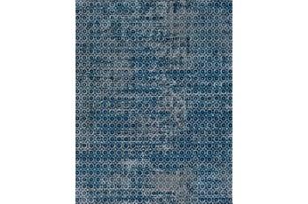 24X36 Rug-Amori Criss Cross Dark Blue/Teal