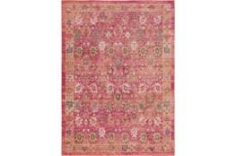 94X123 Rug-Gypsy Border Bright Pink