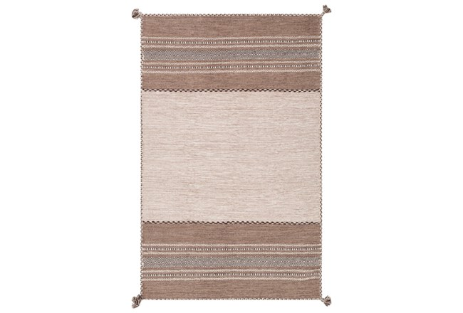 48X72 Rug-Tassel Cotton Flatweave Camel - 360