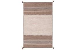 60X90 Rug-Tassel Cotton Flatweave Camel