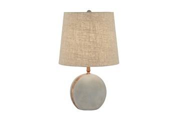 Table Lamp-Concrete & Copper Sphere