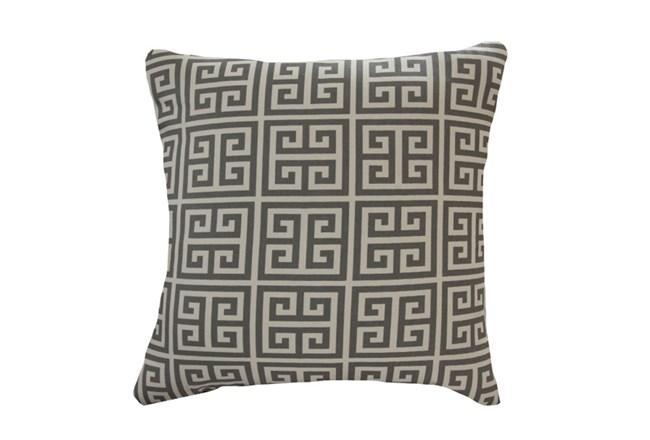 Accent Pillow-Greek Key Grey 18X18 - 360