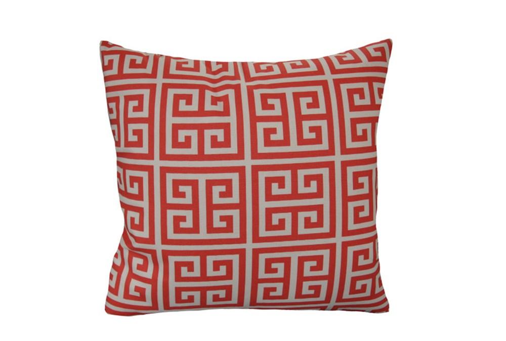 Accent Pillow-Greek Key Coral 18X18