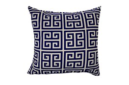 Accent Pillow-Greek Key Navy Blue 18X18