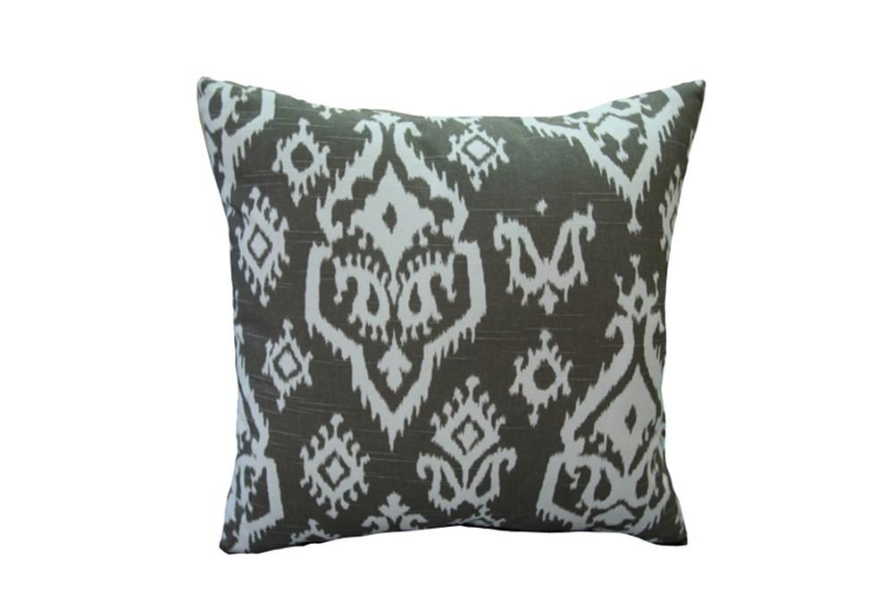 Accent Pillow-Bay Ikat Brown 18X18