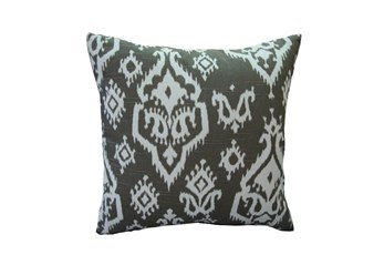 Accent Pillow-Bay Ikat Brown 18X18