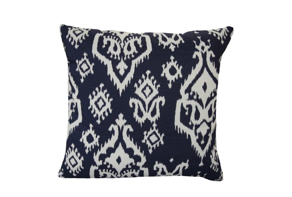 Accent Pillow-Bay Ikat Blue 18X18