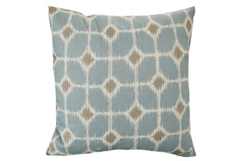 Accent Pillow-Key Hole Light Blue 18X18